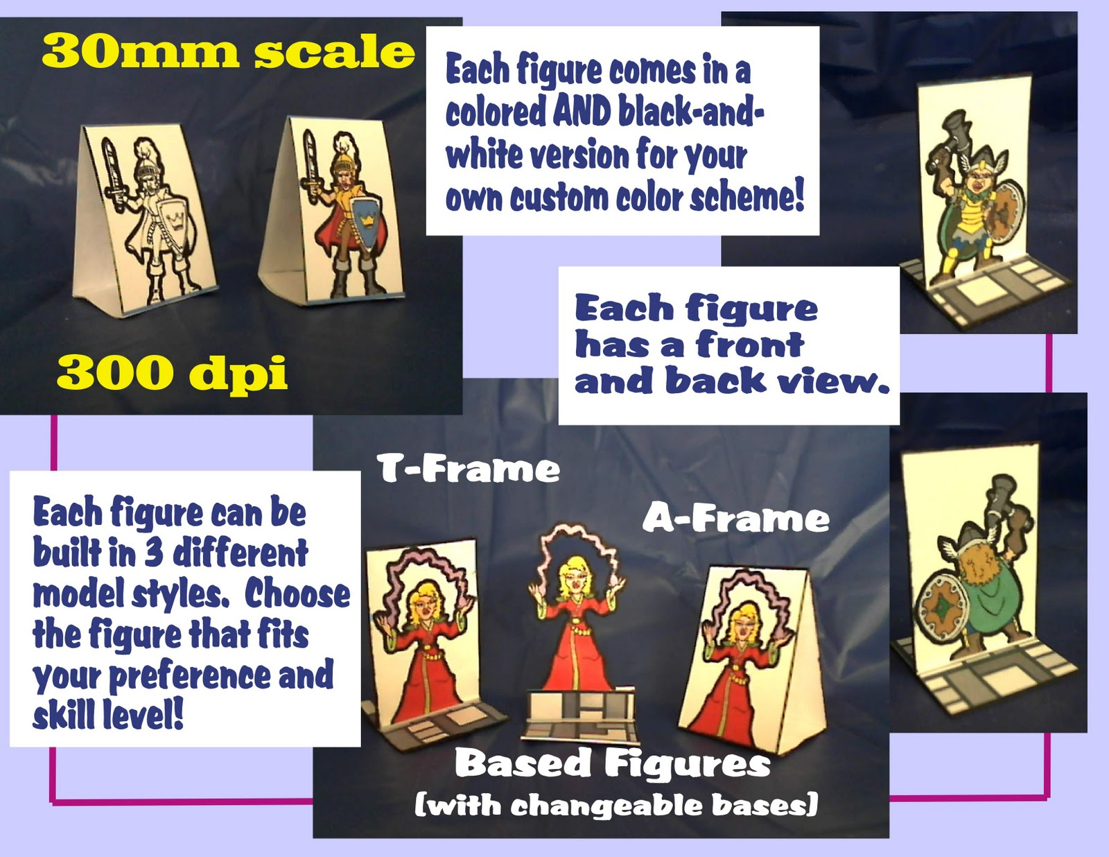 photograph about Printable Paper Miniatures named Fantanomicon Thrust: Printable Pawns