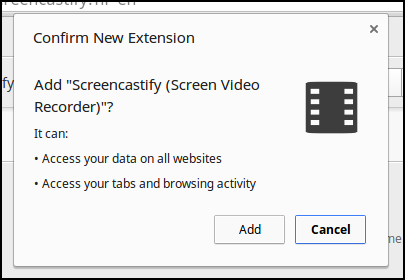Permissions for ScreenCastify