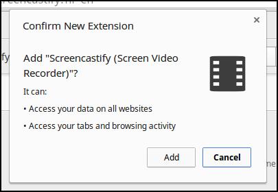 Permissions for ScreenCastify