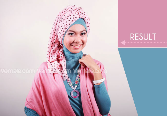 Cara Memakai Jilbab Pashmina Turban Sederhana   Cara