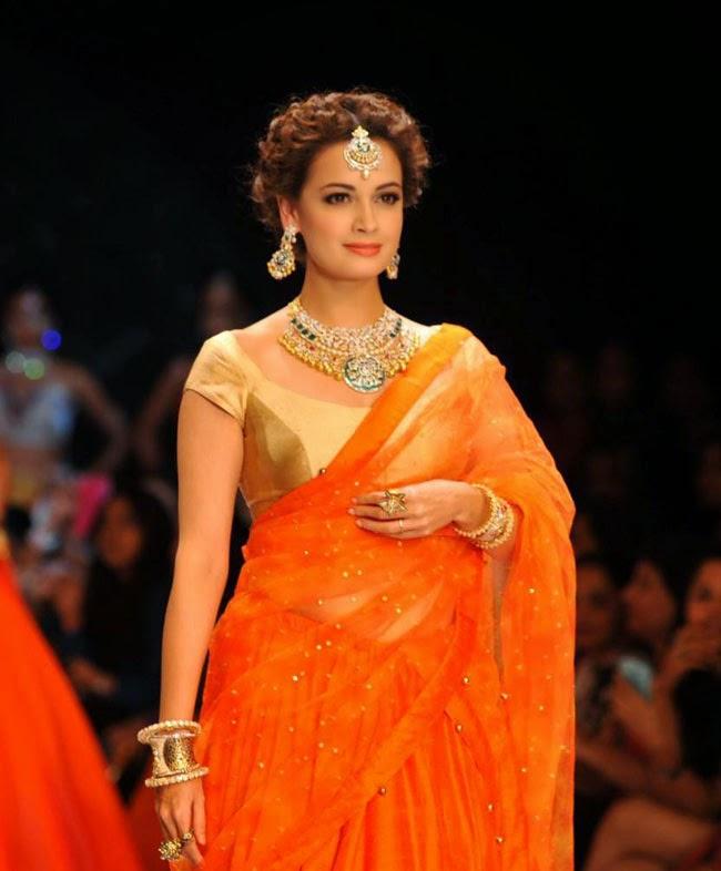 Dia Mirza at India International Jewellery Week (IIJW)-2014