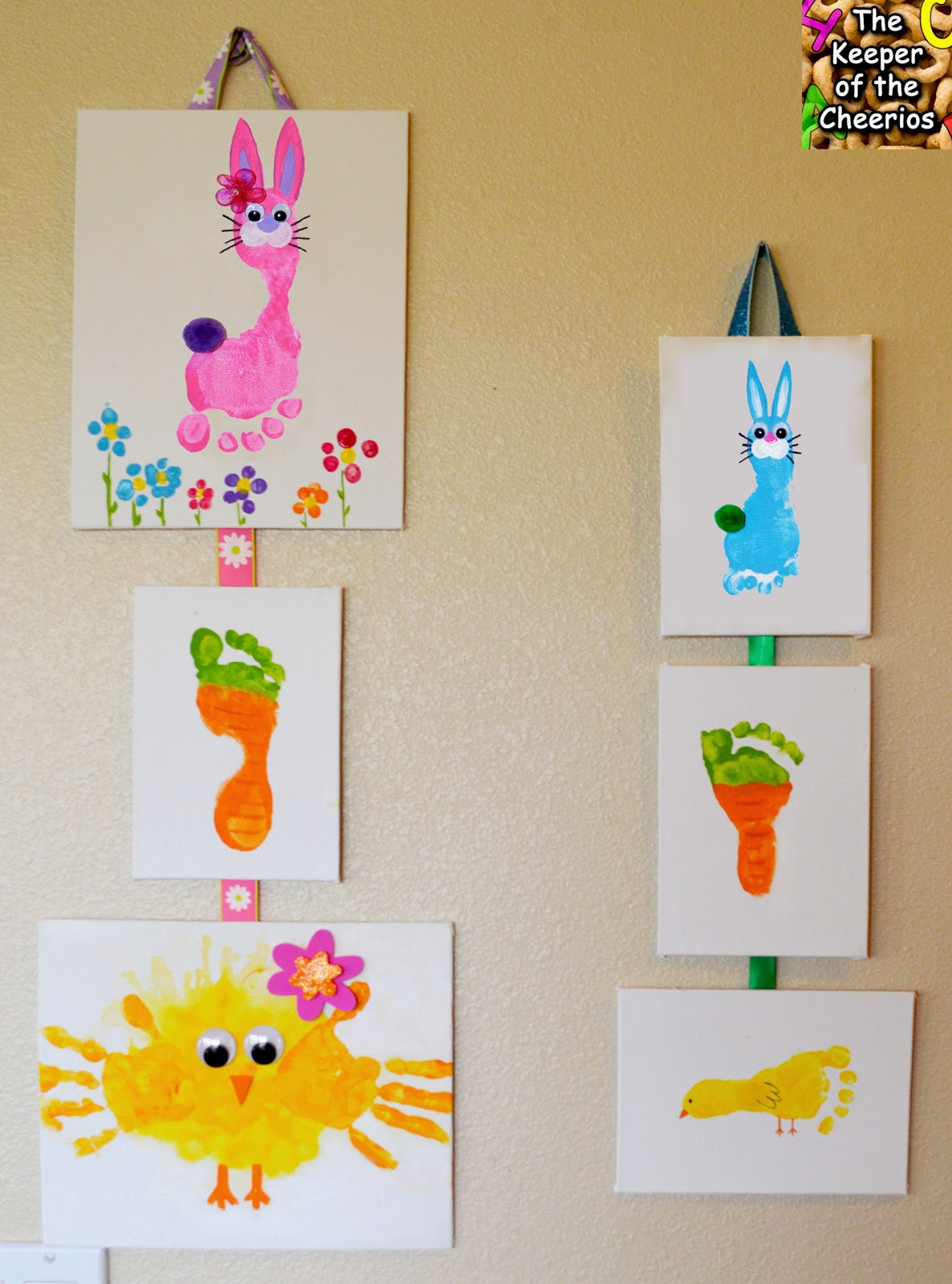 Easter hand print and footprint crafts for Hand and foot crafts
