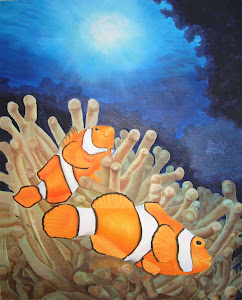 Clown Fish - Oil on canvas