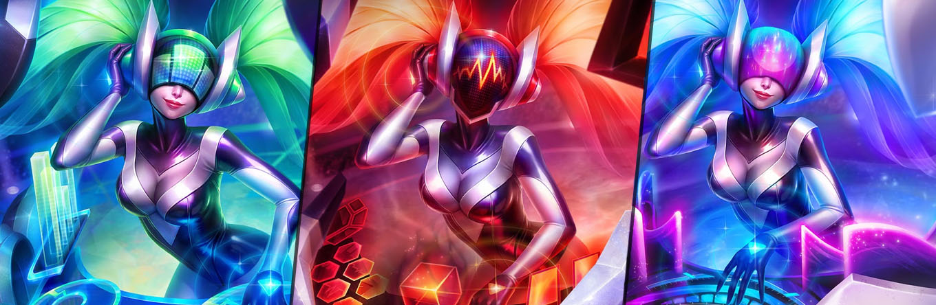 New Ingame Changing Profile Artworks for DJ Sona?