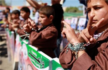 Protesto em apoio aos prisioneiros palestinos
