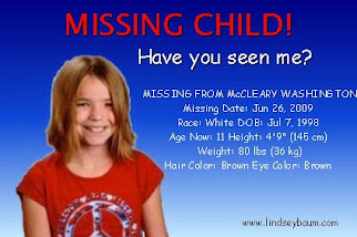 Missing Child - Feel Free to copy this button to your site.