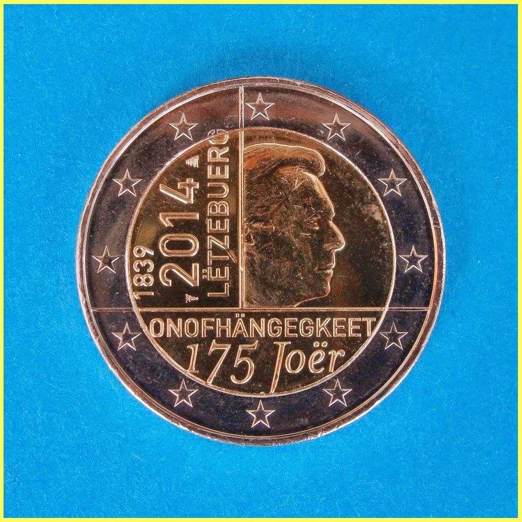 2014 Luxemburgo 2 euros