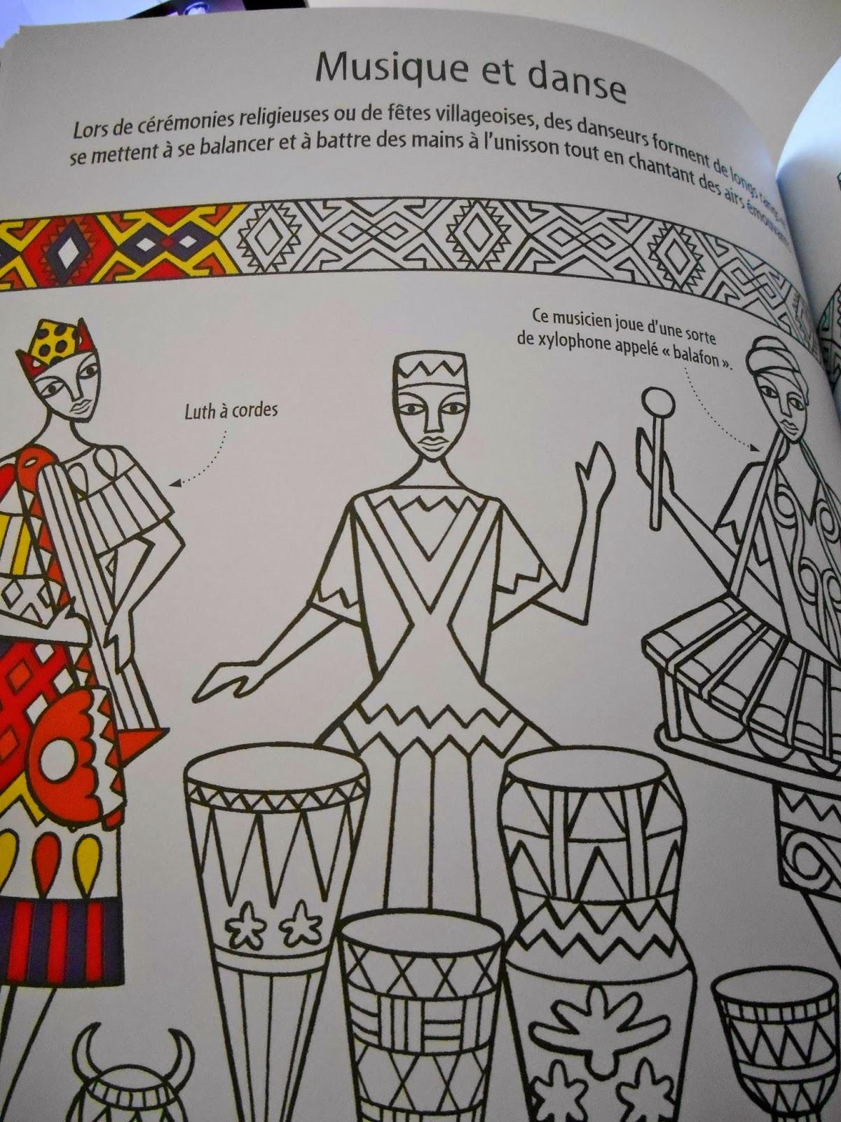 Coloriage Famille Africaine.Sous Le Feuillage Motifs Africains A Colorier