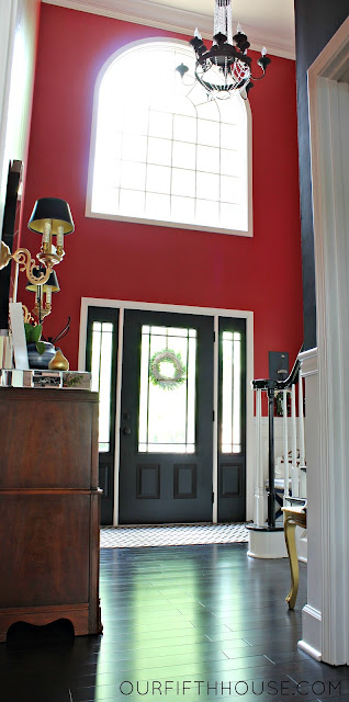 entry foyer with black interior door