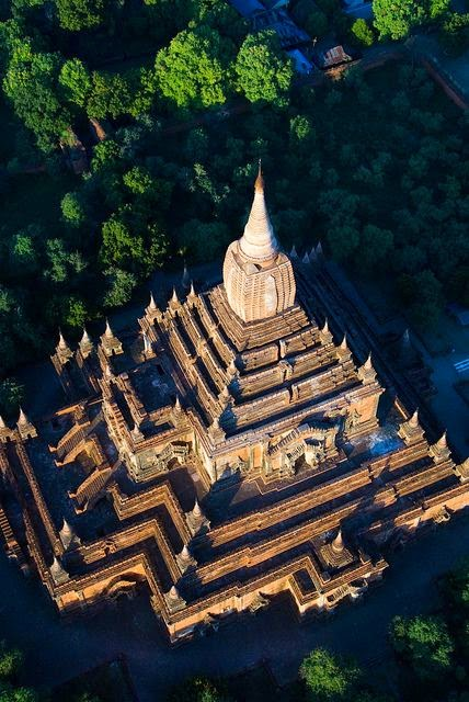 Hot air balloon ride over Bagan temples, Myanmar