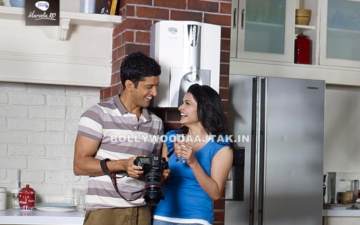 1 - Prachi Desai & Farhan Akhtar Photoshoot for Pureit