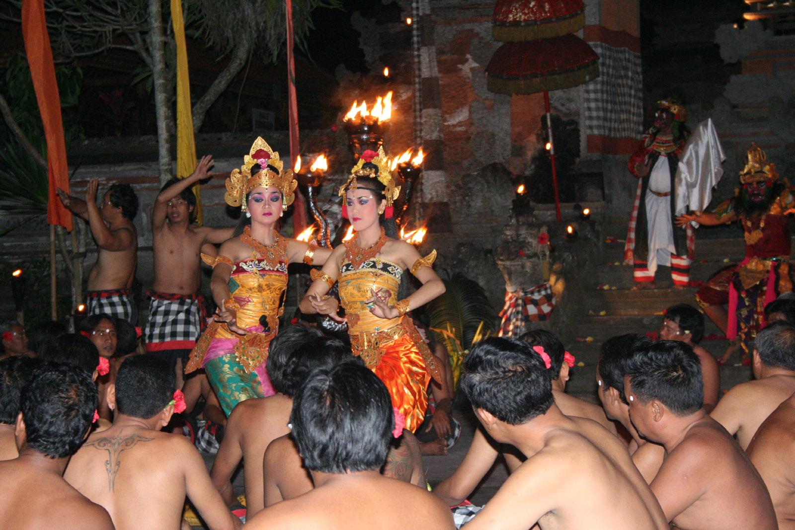 Kecak dance in pura dalem Ubud