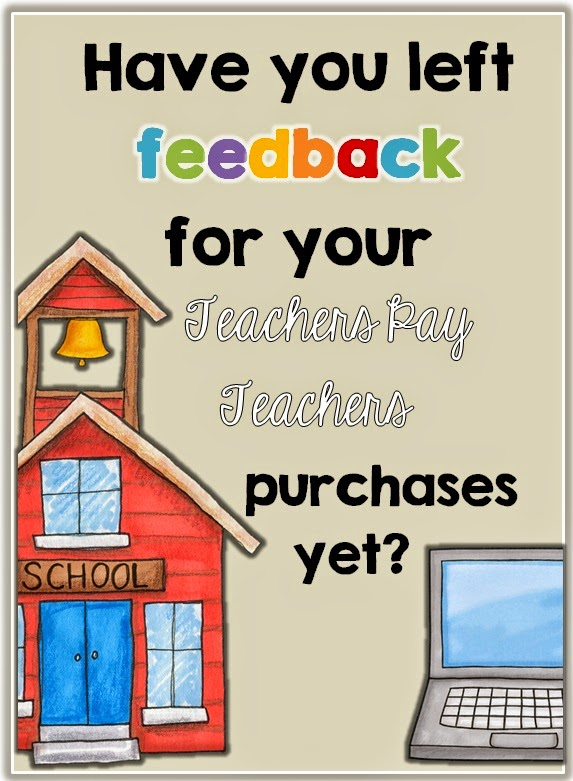 Leaving fair feedback means that you gain TpT credit which then translates into money off your purchase.>>> Every 100 Credits is worth $5