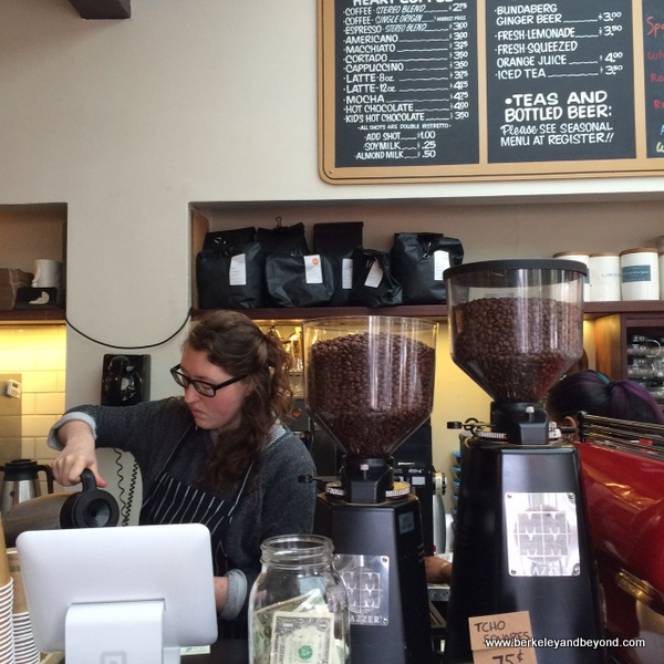 order counter at Bartavelle Coffee & Wine Bar in Berkeley, California