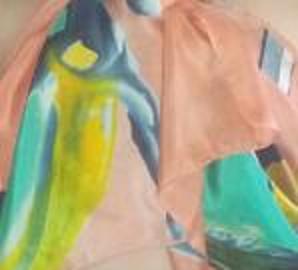 Pañuelos en seda de la artista Clara Tengonoff