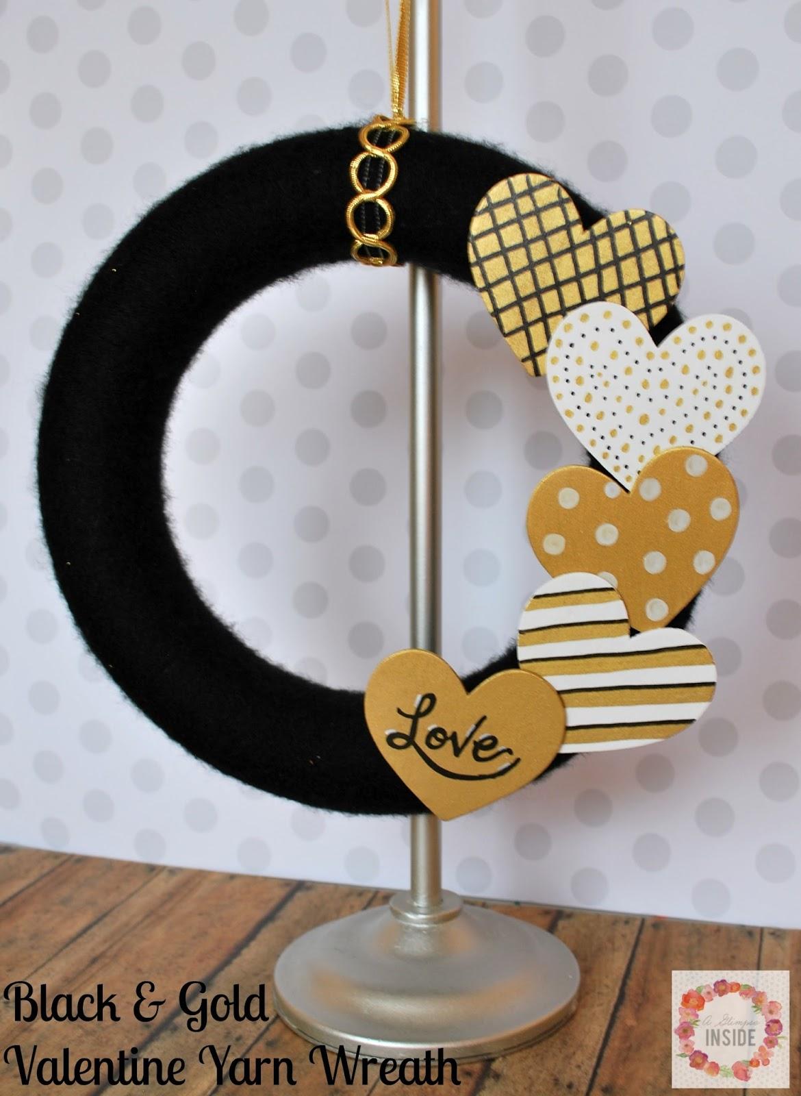 http://www.aglimpseinsideblog.com/2016/01/black-gold-valentine-yarn-wreath.html