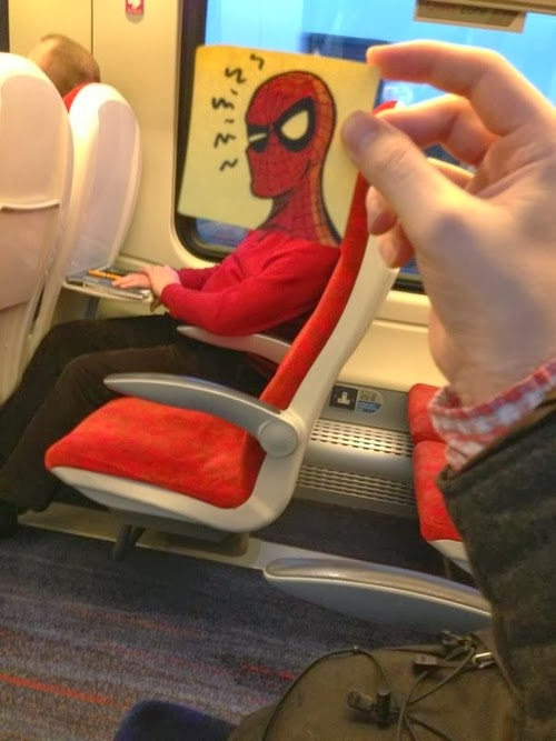 20-Spider-Man-2-October-Jones-Bored-on-the-Train-Designs-www-designstack-co