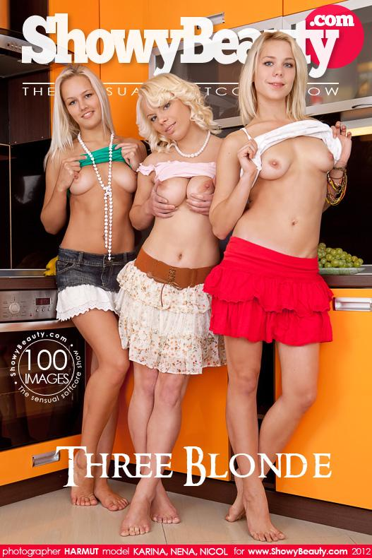 XvbmtowBeauti 23 Nicol, Nena, Karina – Three Blonde