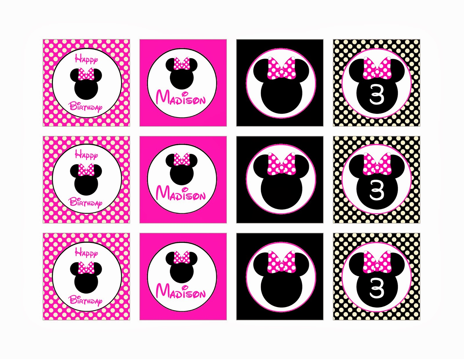Pamela renee designs party theme pink or red minnie mouse party pamela renee designs party theme pink or red minnie mouse party plus assembly instructions amipublicfo Choice Image