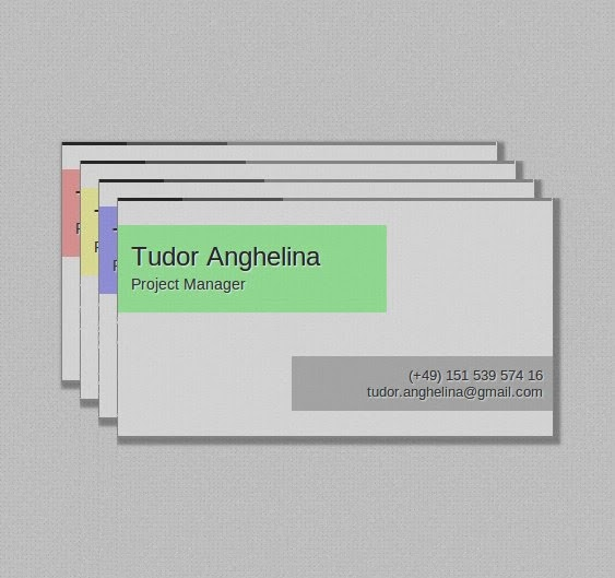 Single Page HTML5 CSS3 Business Card Template 2.0