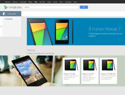 Arriva in Italia il sito commerciale di Google per la vendita dei dispositivi della serie Nexus