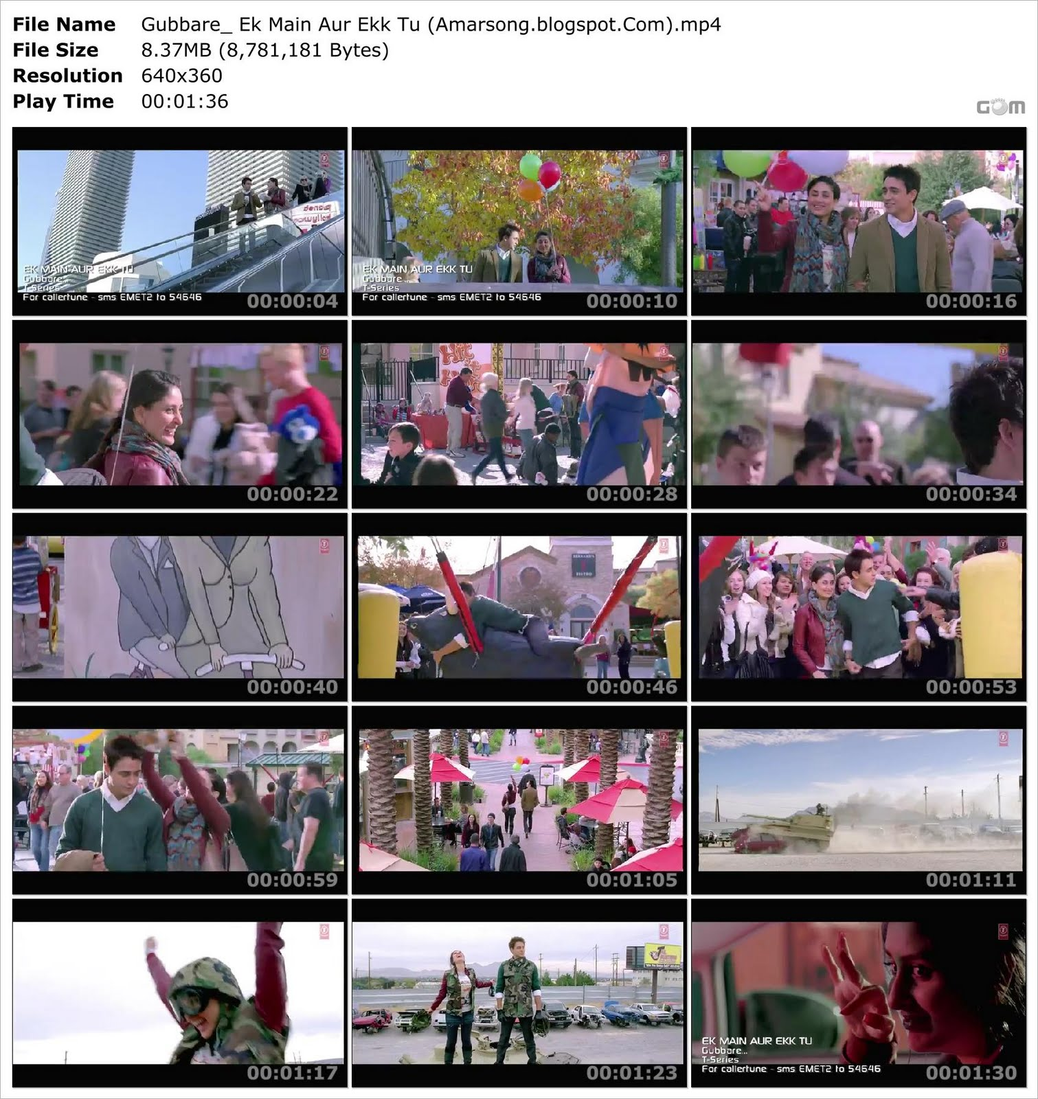 Gubbare Video Download (Ek Main Aur Ekk Tu)