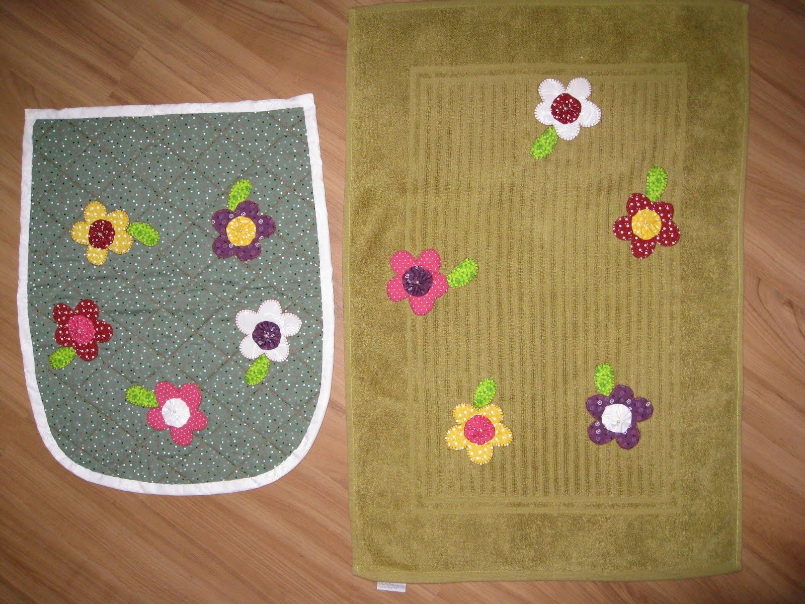 Patchwork Tapete De Banheiro : Gattipatch: Jogo tapete de banheiro em patchwork