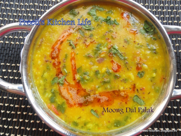 Moong Dal Palak ~ Simply TADKA