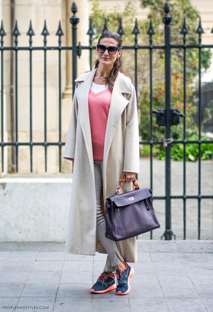 Stylish Iva Balaban, how girls wear long coat and Nike sneakers / kaput i Nike tenisice - dobar primjer kako ih stilizirati
