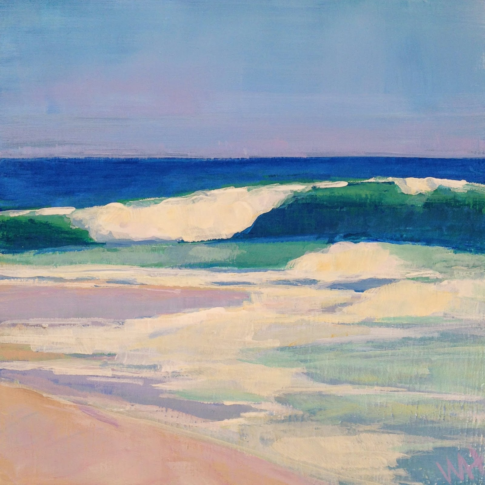 Wave painting by Cape Cod artist