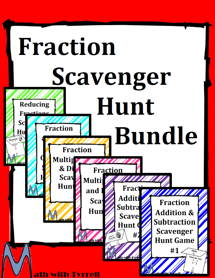 https://www.teacherspayteachers.com/Product/Fraction-Scavenger-Hunt-Bundle-1707801