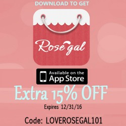 Download the Rosegal App