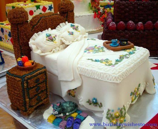 Foam Bed Birthday Cakes