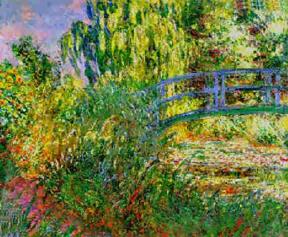 Claude Monet Bassin aux nympheas et sentier au bord de l′eau. 1900