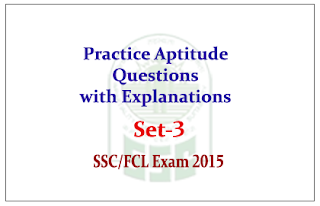 Practice Aptitude Questions with Solution for SSC CGL Mains