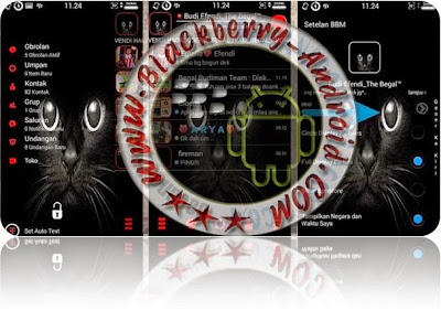 FREE BBM Mod Tema Black Cat Transparan New Versi 2.8.0.21 Apk