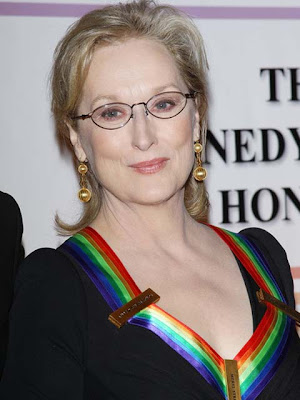 Meryl Streep Gold Chandelier Earrings