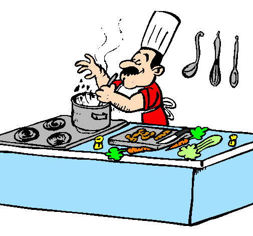 Un impostore in cucina for Disegno cucina