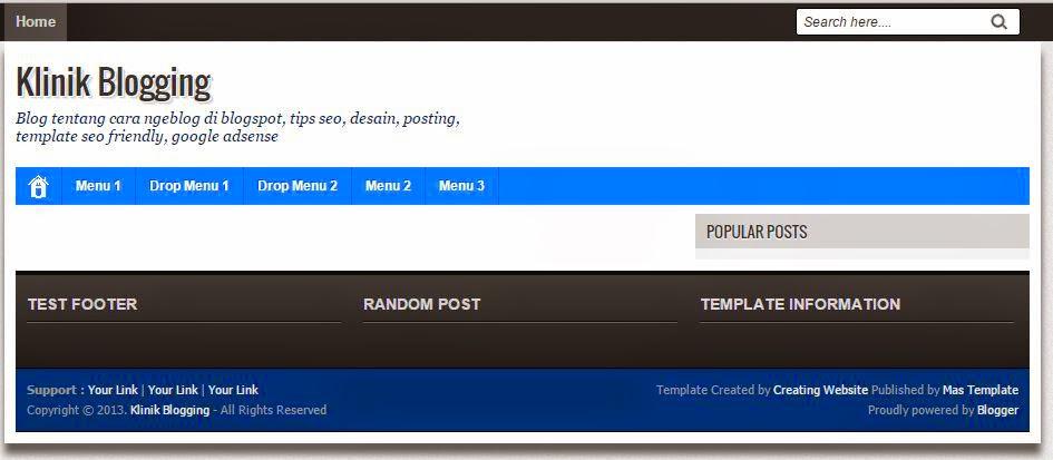 Mengubah Tampilan Blog