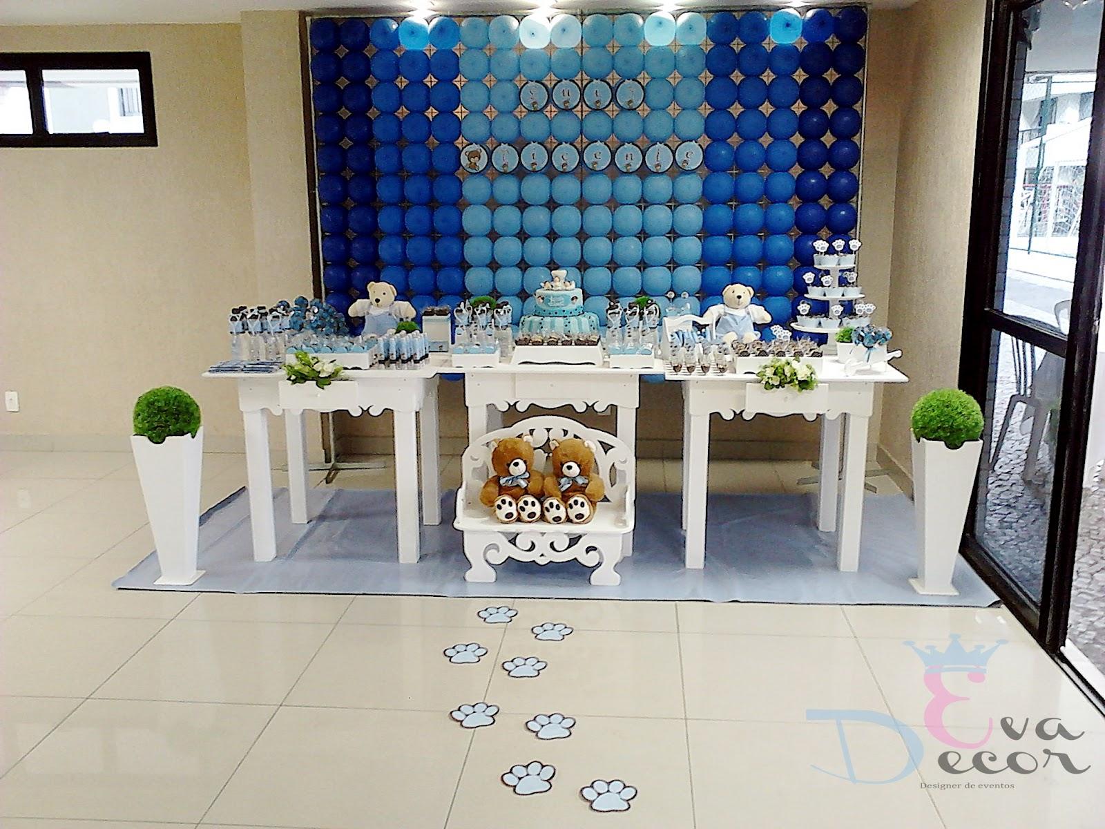 EVA DECOR: Decoração Ursos Marrom e Azul #143471 1600x1200 Banheiro Azul E Marrom
