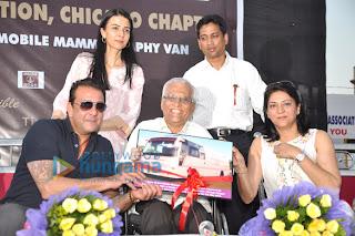 Sanjay Dutt & Priya donate a Mobile Mammography Screening Unit