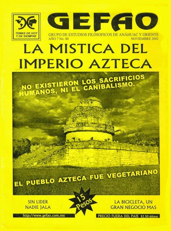 Revista GEFAO No. 80 LA MISTICA EN EL IMPERIO AZTECA