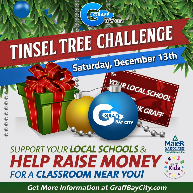 Bay City Tinsel Tree Challenge to Support Local Schools
