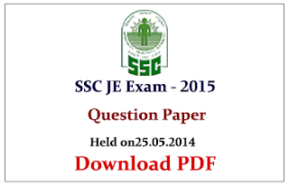 SSC JE 2014 Previous Question Paper (Held on 25.05.2014)