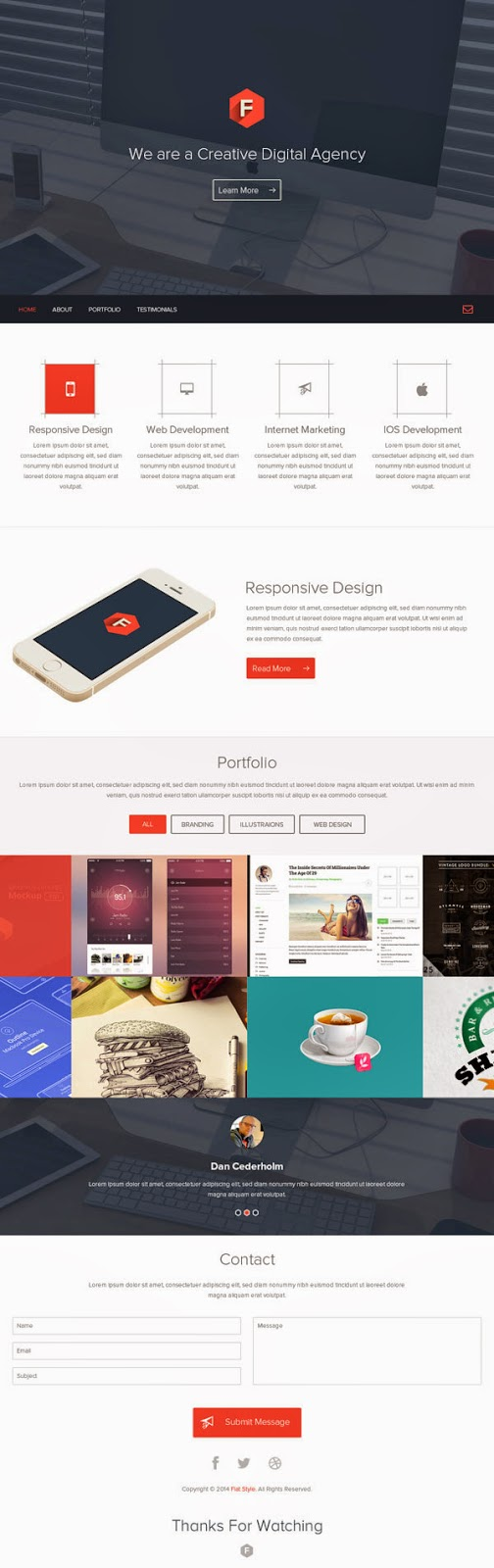 Free PSD Web Layout Template