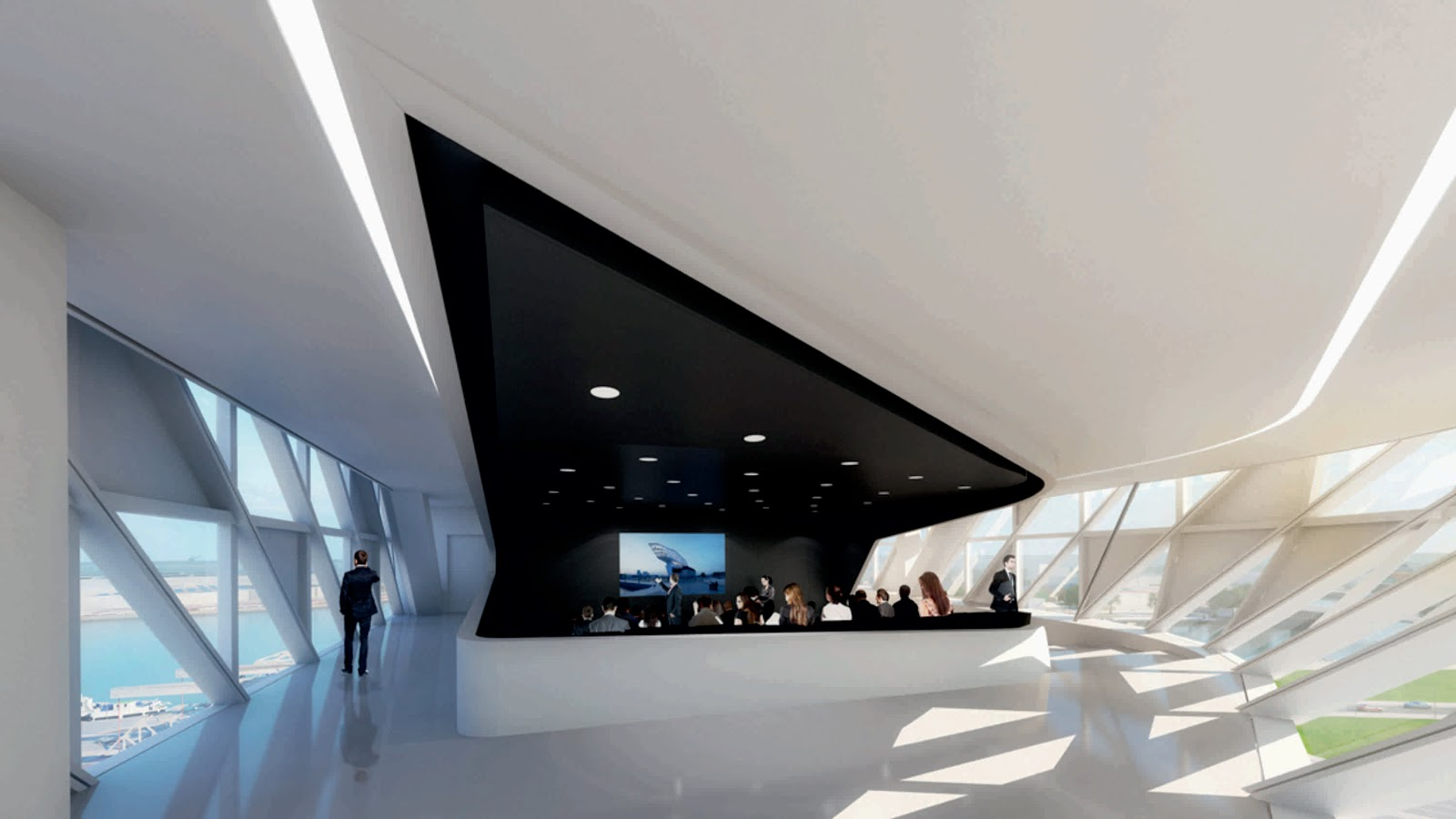 Port house by zaha hadid for Office design zaha hadid