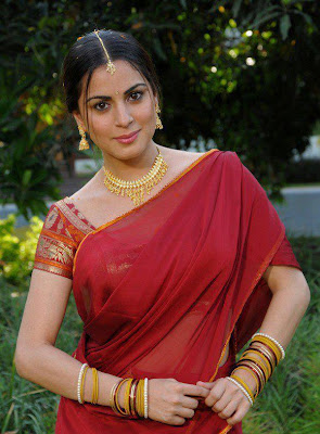 Beautiful tamil girl in half saree.
