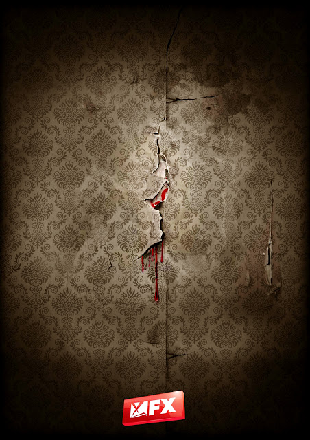 American Horror Story Bloody Wall HD Wallpaper for iPhone