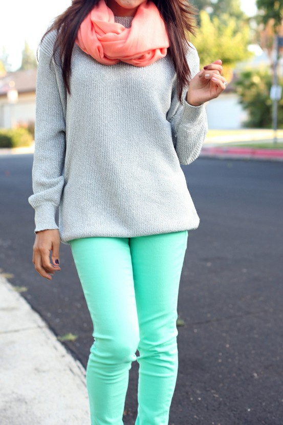Turquoise Color Scheme Fall Fashion