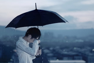 alone boy crying in rain sad boy